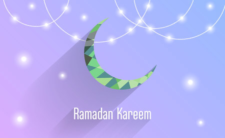 islamic eid festival decoration greeting card design Ilustração