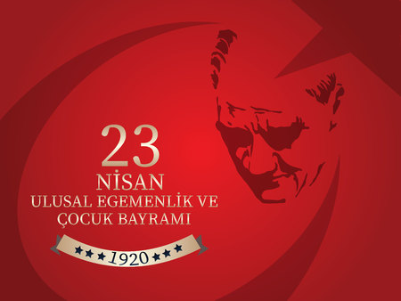 Vector illustration of the cocuk baryrami 23 nisan , translation: Turkish April 23 National Sovereignty and Children's Day, graphic design to the Turkish holiday
