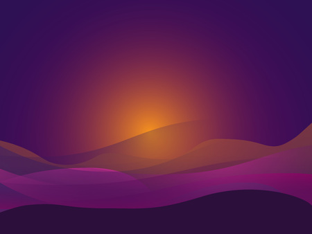 Purple curve line background orange vector overlap paper layer with space for text and message design