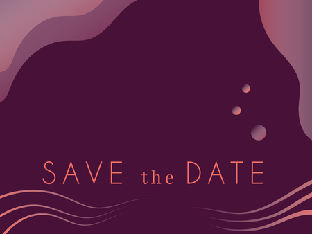 Save the date modern wedding invitation card. Luxury colors and modern typography.vector illustration. EPS 10