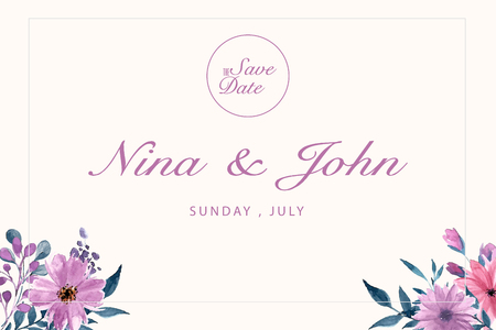 Save the date invitation card. Modern design template with elements. Modern trend colors. Vector elements. Eps 10