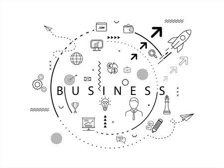 Business Icon Concept.vector illustration. EPS 10 Çizim
