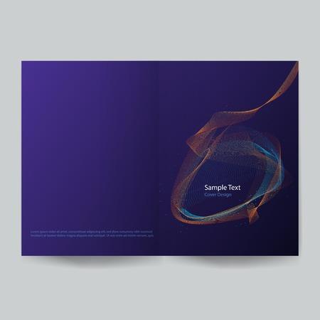 minimalistic cover design vector illustration Çizim