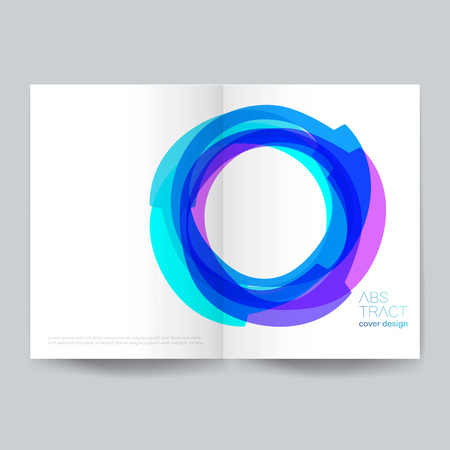Minimalistic cover design - Illustration.Backgrounds, Connection, Computer Graphics, Motion, Ideas. Stock Vector - 123212666