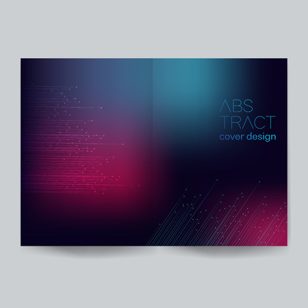 Minimalistic cover design - Illustration.Backgrounds, Connection, Computer Graphics, Motion, Ideas. Stock Vector - 124381112