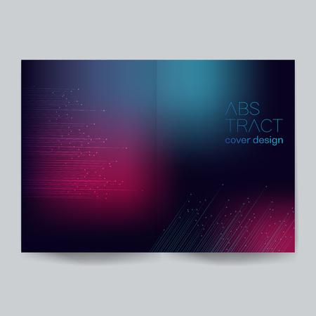 Minimalistic cover design - Illustration.Backgrounds, Connection, Computer Graphics, Motion, Ideas.