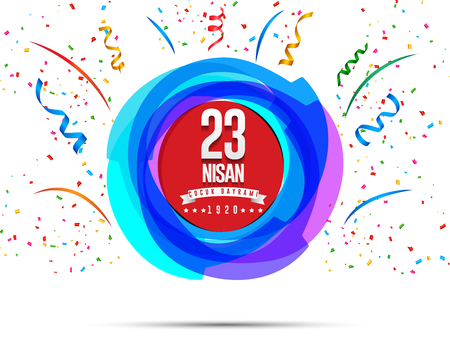 Vector illustration of the cocuk baryrami 23 nisan , translation: Turkish April 23 National Sovereignty and Childrens Day, graphic design to the Turkish holiday Illustration