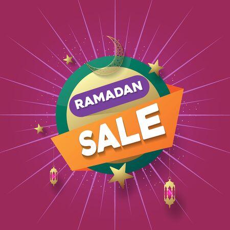 Ramadan Sale Abstract Frame Banner.EPS 10. Vector Illustration
