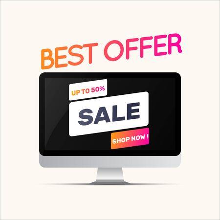 Sale banner template design, Big sale special offer. Vector illustration. Ilustração