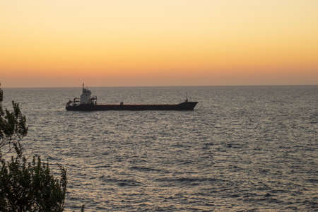 sea sunset photo in turkey zonguldak 写真素材
