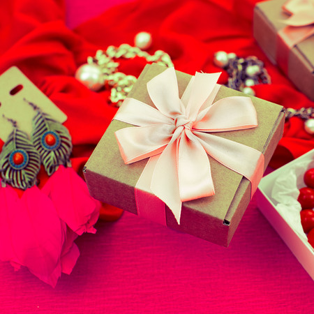 Decoratieve compositie voorbereiding voor de vakantie Decoratie geschenken