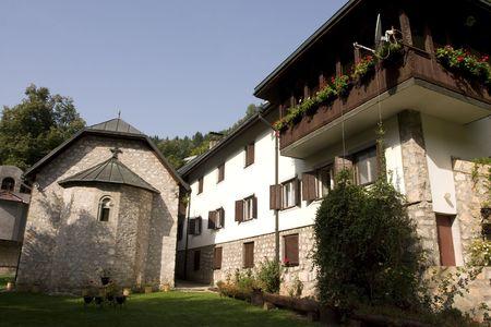 republika: Landscape of Lovnica monastery near Sehovici, Republika Srpska, Bosnia and Herzegovina