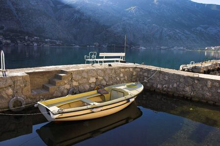 Fishing boat in harbor, Boka Kotorska bay Stock Photo - 3386131