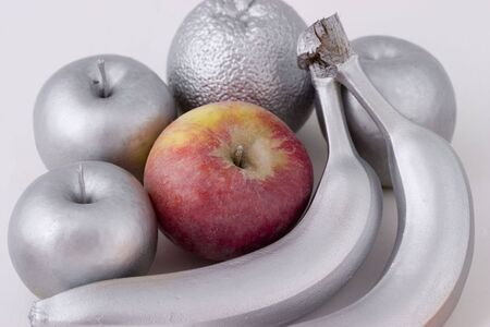 Fruits partial coloring with silver effect Stock Photo - 3416805