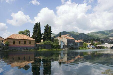 republika: s on riverside in Trebinje, Republika Srpska, BiH Stock Photo