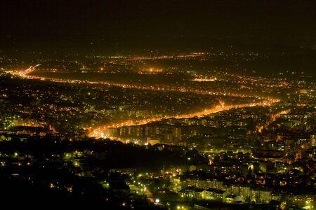 republika: Night view cityscape of Banja Luka, Republika Srpska, Bosnia and Herzegovina