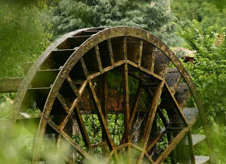 Old water mill wheel Stock Photo - 3431859