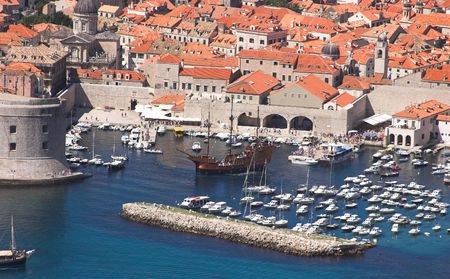bulwark: Dubrovnik old city landscape