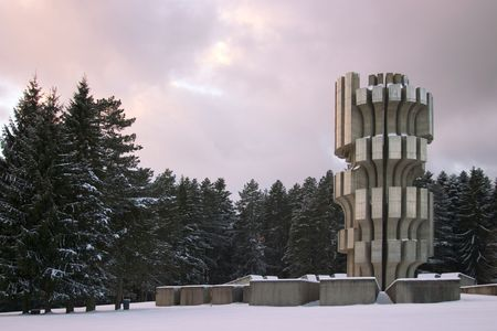 republika: World War II monument on Mrakovica, Kozara mountain, Prijedor, Republika Srpska, Bosnia