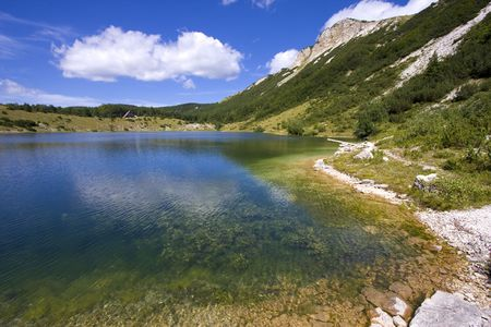 Satorsko lake - in the western regions of Bosnia and Herzegovina at 1488 meters a.s.l. below Šator mountain photo