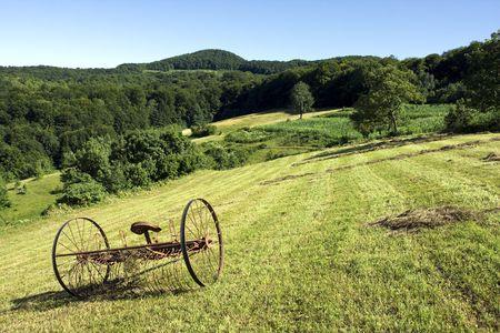 agronomics: Beautiful nature and cultivated land on top of Manjaca mountain, near Banja Luka, Republika Srpska, Bosnia