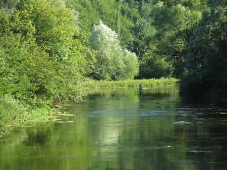 fishingpole: Fly fishing on Ribnik river, near Banja Luka, Republika Srpska, Bosnia