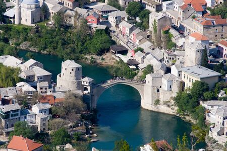 Old bridge in Mostar photo
