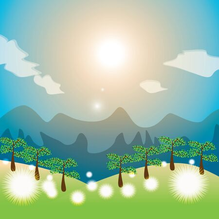 Summer landscape Stock Vector - 13760125