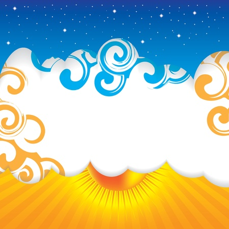 Abstract summer design sky background