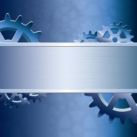 Abstract vektor gear background Illustration