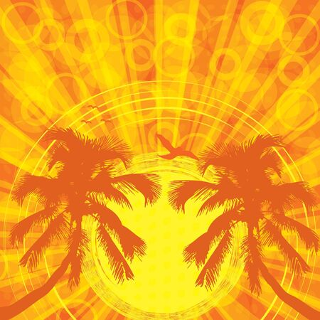 Summer tropical background Stock Vector - 14166661