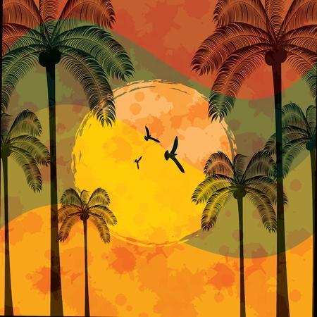 Summer tropical holiday background Illustration