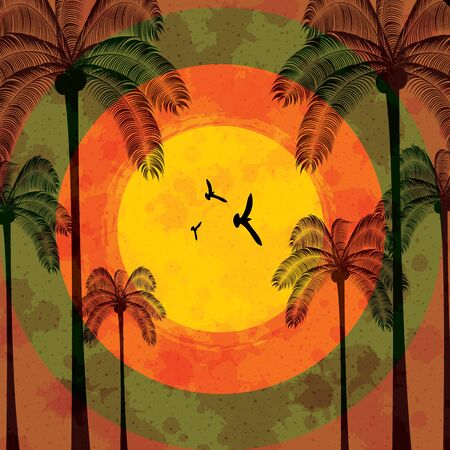 Summer tropical holiday background Stock Vector - 14166674
