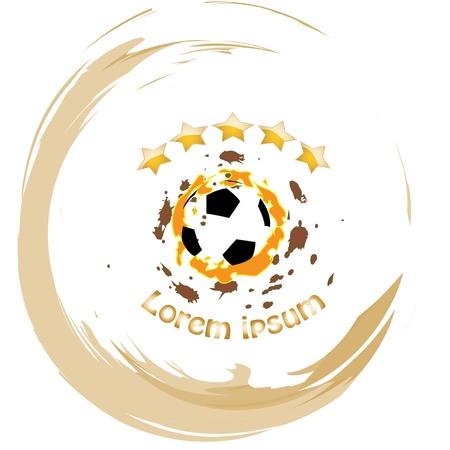 Soccer ball vector abstract illustration