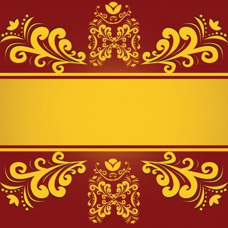 Vintage red golden background Vector