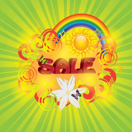 Colorful 3d summer sale template Vector