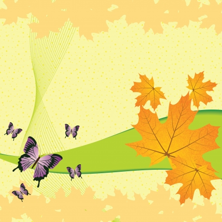 Autumn abstract background with leaf Stock Vector - 14459786