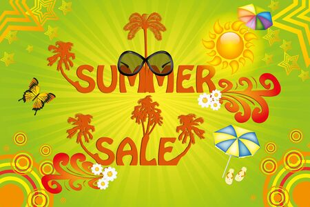 Colorful  summer sale template Vector