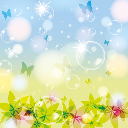 Abstract spring summer background with bubble Stock Vector - 14716419