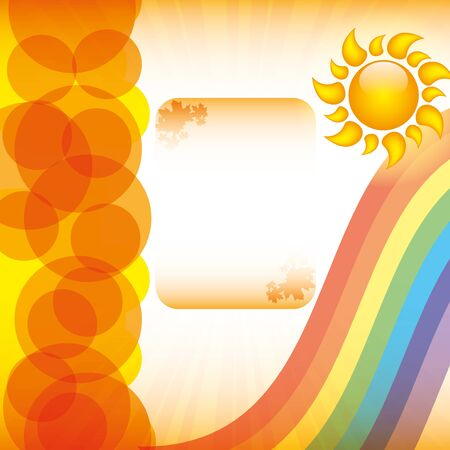 Abstract summer background with sun Vector