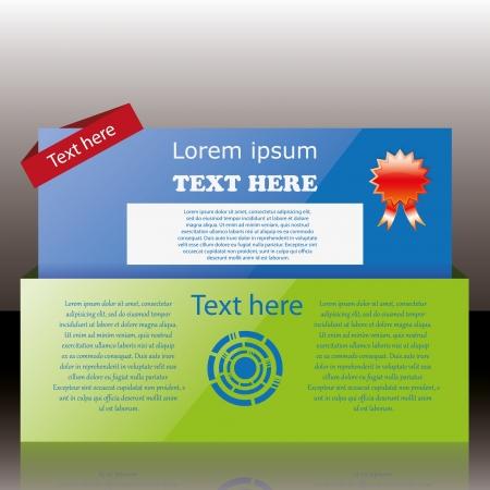 Modern web card login form Stock Vector - 14813918