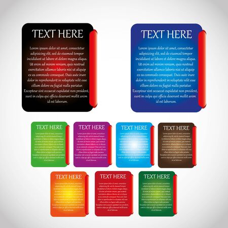 Colorful message card set text Stock Vector - 14940957