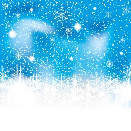 R�sum� fond bleu blanc d'hiver Illustration