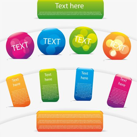 Modern colorful message notes set Stock Vector - 14940963