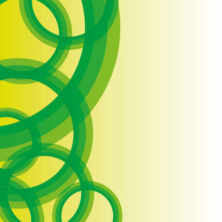 Abstract background with green circle Vector