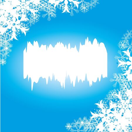 Abstract blue winter background Vector