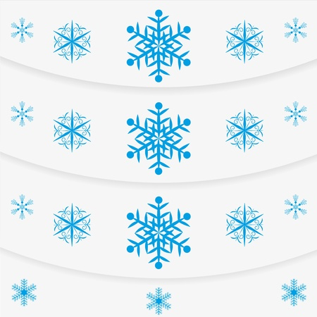 Modern winter message snowflakes set Stock Vector - 14941080