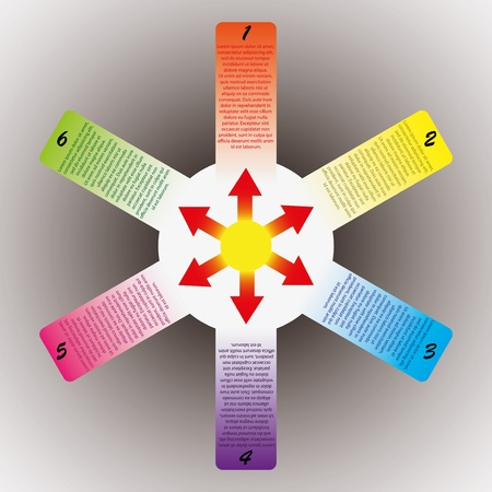pentagram: Abstract colorful message banner set