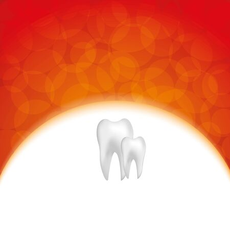 carious: Abstract medical dental background with white teeth Illustration