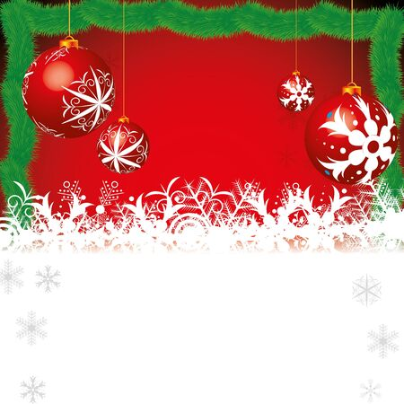 Abstract winter Christmas background with ball Vector